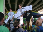 winners on podium